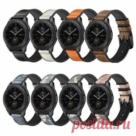 Bakeey 20/22mm Width Universal Pure Sports Genuine Leather + Silicone Watch Band - US$17.49