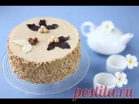 ▶ Кофейно-ореховый торт - YouTube