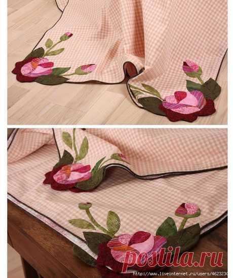Уютная кухня: красивые скатерти и салфетки (шитье)