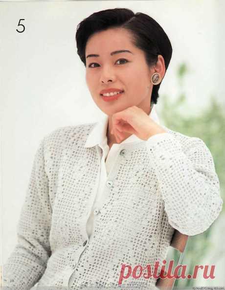 Кофточки крючком. Японский журнал с качественными схемами