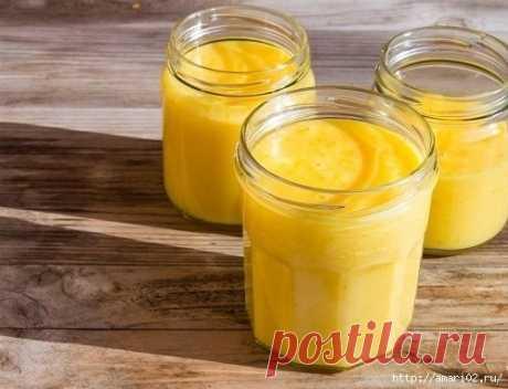 Заготовка апельсинового кёрда впрок