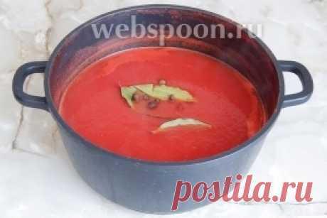 La pasta de tomate la receta de la foto, como preparar en Webspoon.ru