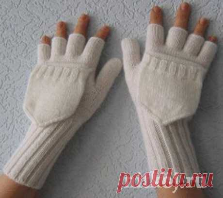 Варежки - перчатки спицами
