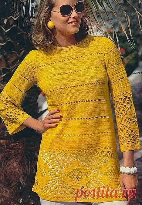 Irish crochet &: Туника-платье