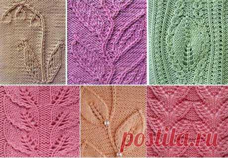 Схемы вязания растительных узоров