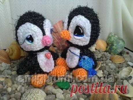 Los pequeños pingüinos — los juguetes Tejidos. Amigurumi de todos los países, se unan