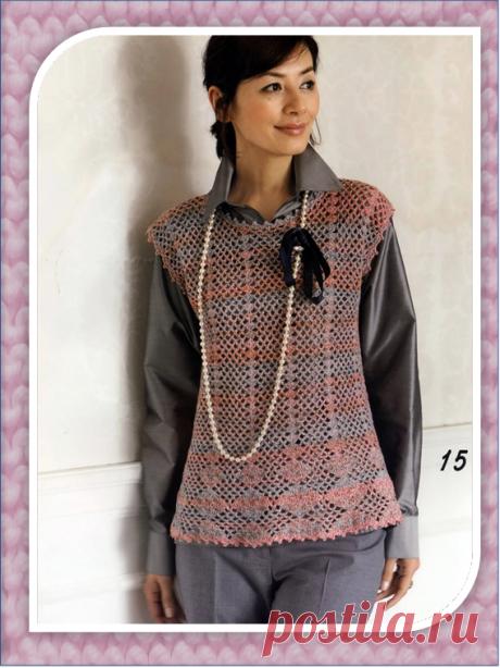 Пять прямых вязаных жилетов: схемы из японских журналов | Embroidery art | Яндекс Дзен