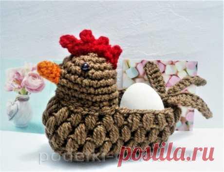 Корзинка для пасхальных яиц в виде курочки