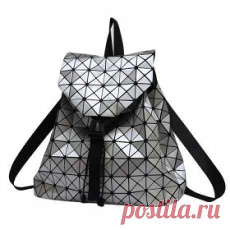 Стильный женский рюкзак из блестящих треугольников | Алиэкспресс на русском. shopperali.ru Хороший Алиэкспресс.