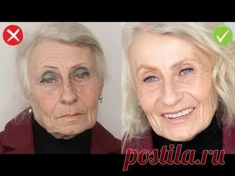 Ворзрастной макияж 60+. Три ошибки повседневного возрастного макияжа.