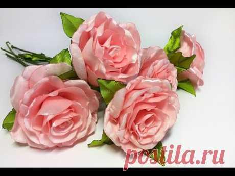 Interior rose from a satin ribbon