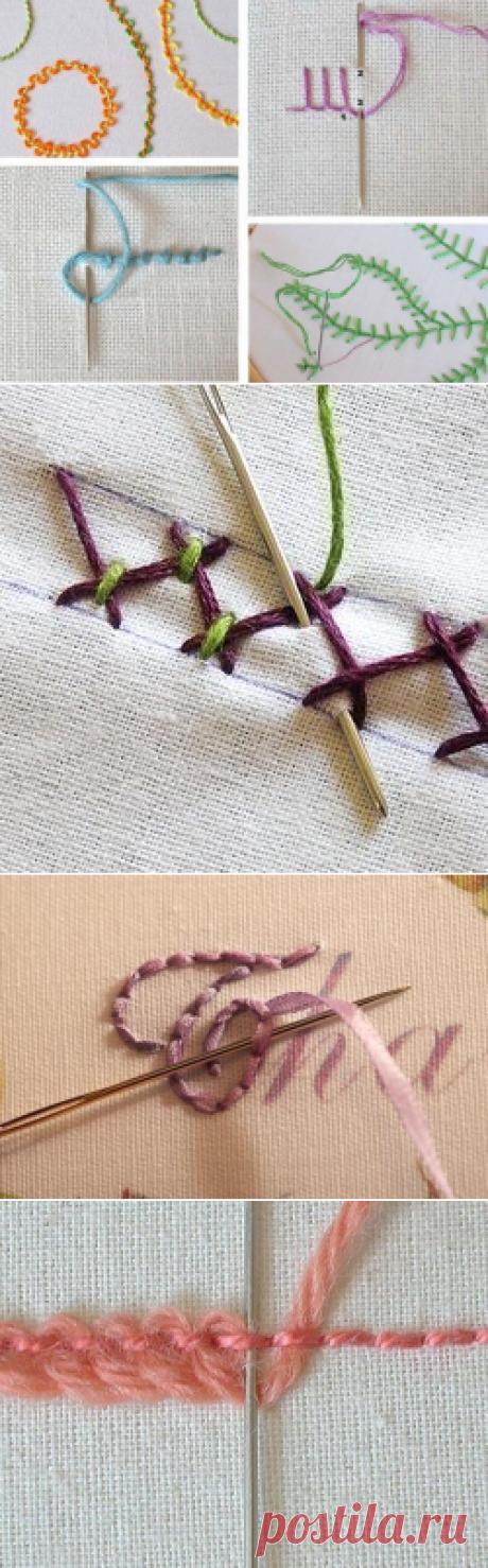 Декор вышивкой, стежки — Сделай сам, идеи для творчества - DIY Ideas