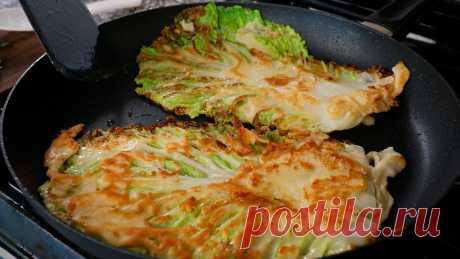 Cabbage pancake (Baechujeon: 배추전)