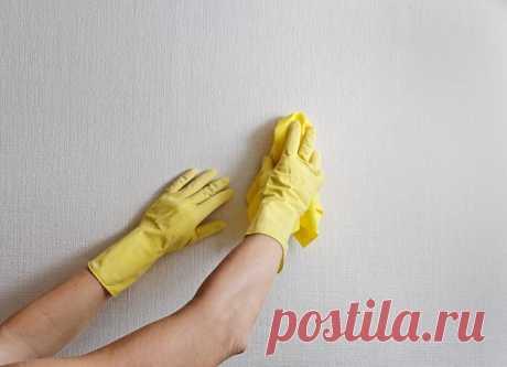 Как убрать пятно с обоев — Полезные советы