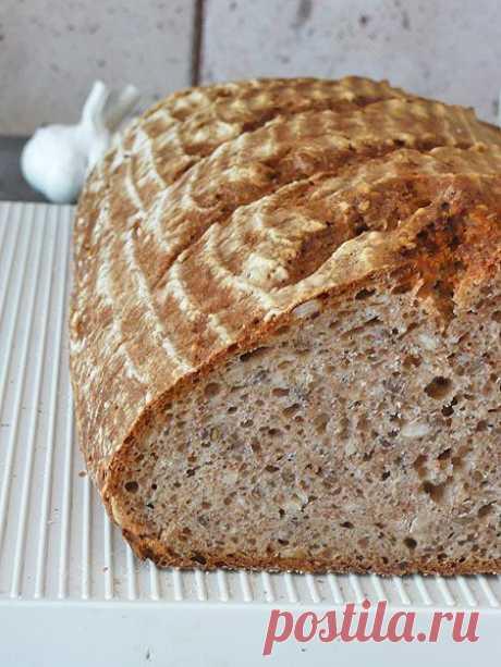 Хлебная закваска без готовых дрожжей.
