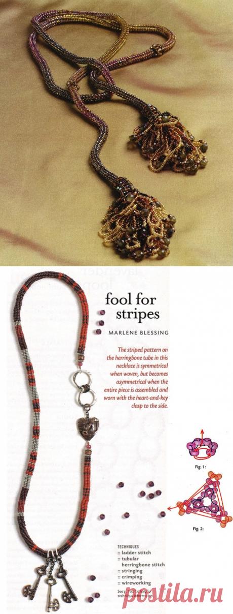 Жгуты (5 видов плетения) Колье, бусы, ожерелья – Бисерок