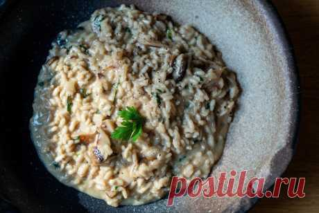 Ризотто с белыми грибами Кристиана Лоренцини, пошаговый рецепт с фотографиями – итальянская кухня: ризотто. «Еда»