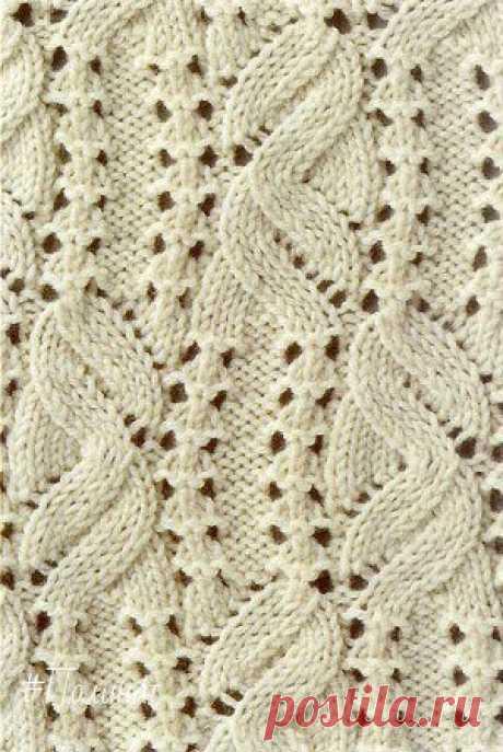 Узоры спицами. #вязание #рукоделие #спицы