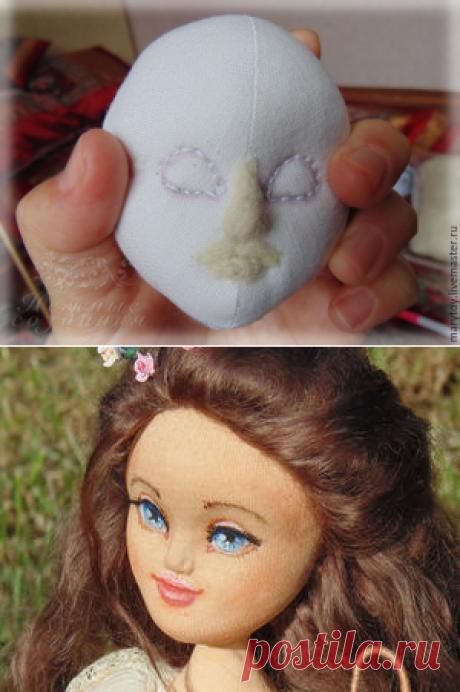Как сделать объемное кукольное личико - Ярмарка Мастеров - ручная работа, handmade