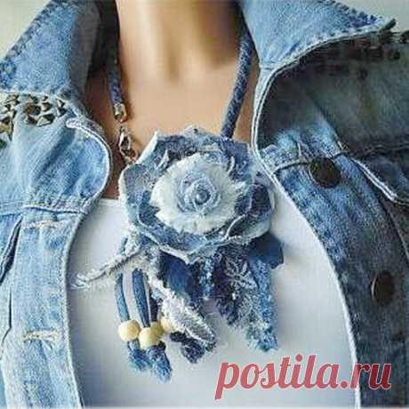 Украшения из джинсовой ткани своими руками. 3 мастер -класса. | Лисья нора | Яндекс Дзен