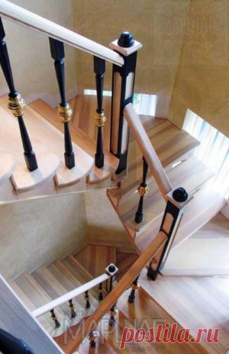 Изготовление лестниц, ограждений, перил Маршаг – Лестница и перила из твердолиственных пород