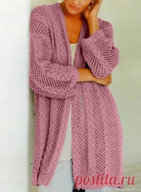 Красивый ажурный кардиган   Вязание для женщин спицами. Схемы вязания спицами
