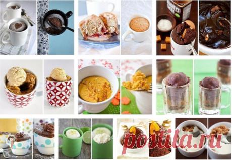 Кекс в микроволновке за 2 минуты: 10 простых рецептов кексов в кружке