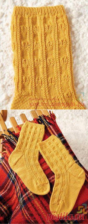 "Knitted socks \""Dog Sledge\"""