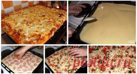 Всегда пеку пиццу по этому рецепту — просто объедение! Очень вкусно и быстро!