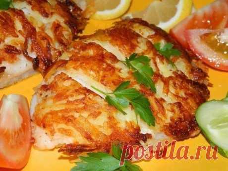 """Рыба в сырно-картофельной """"шубе"""" — Sloosh – кулинарные рецепты"""