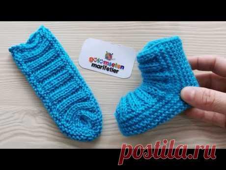 Очень легкие вязаные новорожденные детские пинетки модели носки