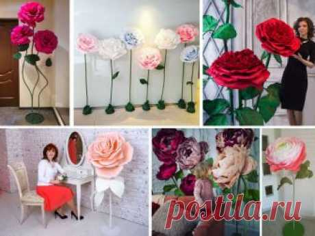 Ростовые цветы (бумага, изолон, фоамиран) для оформления фотозон и витрин   Снова Праздник!