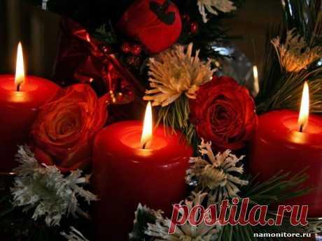 Фотография Свечи, красное, Новый год, праздники, розы, цветы - Несортированные - Обои для рабочего стола. Wallpapers