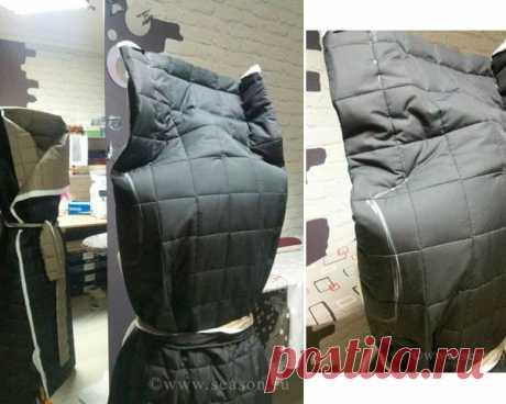 El abrigo-manta acolchado