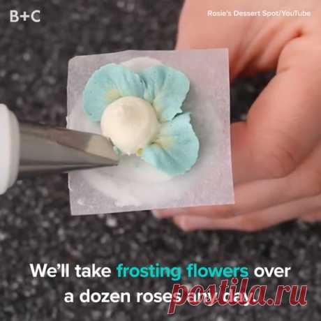 Frosting flowers are SO memorizing.