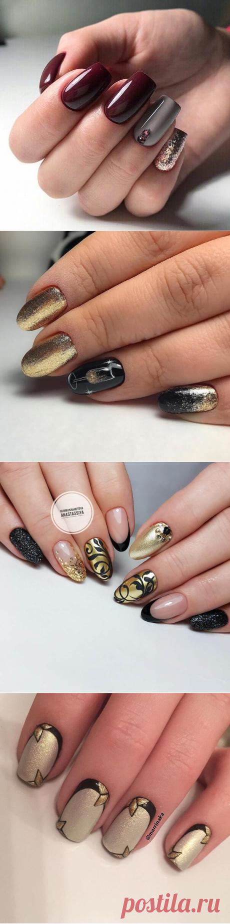 Золотой маникюр - фото идей дизайна ногтей - Best Маникюр