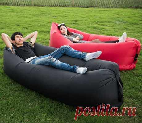 Открытый Кемпинг портативный надувной диван ленивый мешок ультра светильник подушка воздуха кровать пляж воздуха кресло сумка лежа тренд продукт 2020|Туристический коврик| | АлиЭкспресс