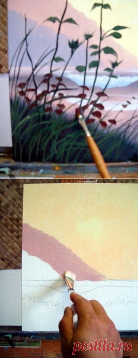 Учимся рисовать пейзаж