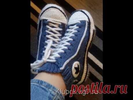 Slippers running shoes. Ayaqqabı formalı corab. Кеды спицами. - YouTube