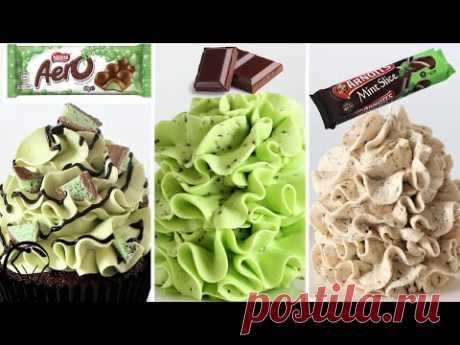 Сгущенное молоко Buttercream Mint ломтик Aero Шоколадная крошка БЕЗ песка, сахарной пудры