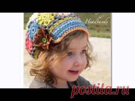 Детские вязаные шапки ФОТО. Супер фасоны для девочек и мальчиков