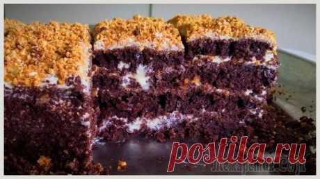 La torta rápida de chocolate