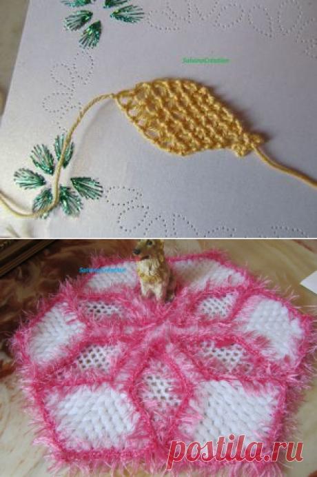fleur en dentelle a l'aiguille ( feuille) - Les créations de Salvina