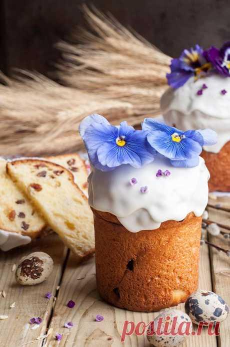 ✔️Кулич на сухих дрожжах, молоке и желтках на Пасху - рецепт с фото