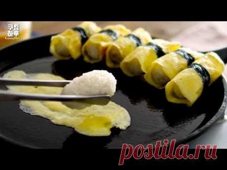 Похоже на Яичные суши !!! Но рисовый шарик с тунцом и майо в яичных рулетах. Вкусно и легко.