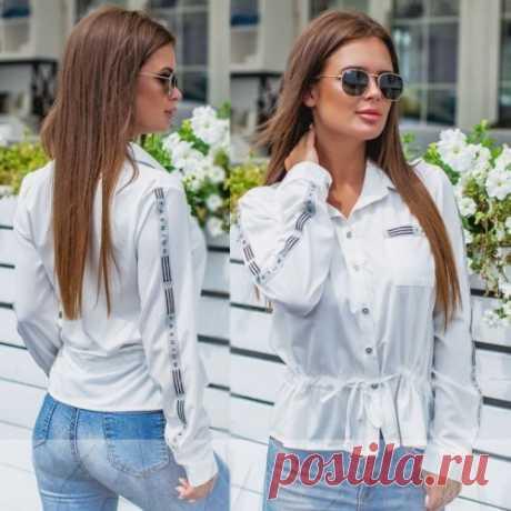 Белая блузка на кулиске недорого купить с доставкой