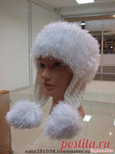 We prepare the head for winter! A cap with ear-flaps - we Knit together online - the Country of Mothers