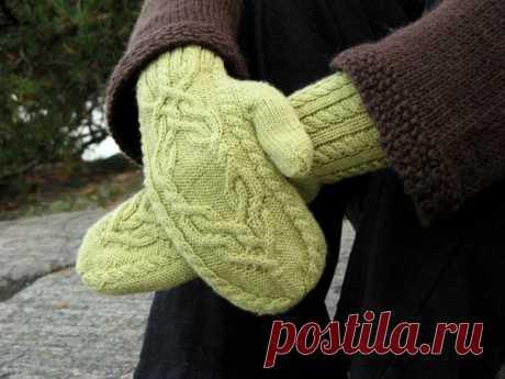 Варежки, перчатки и митенки, схемы и описания - Вяжи.ру - модели 3