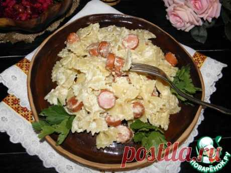 Макароны с сосисками в бархатном соусе – кулинарный рецепт