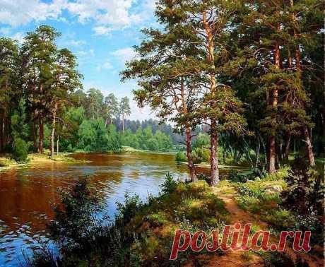 Художник-самоучка пишет реалистичные пейзажи русской природы, которые напоминают картины великого Шишкина